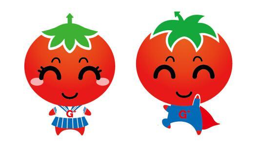 通过西红柿卡通形象灿烂可亲的笑容
